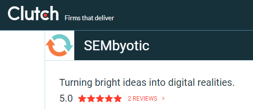 Clutch Review Rating for SEMbyotic