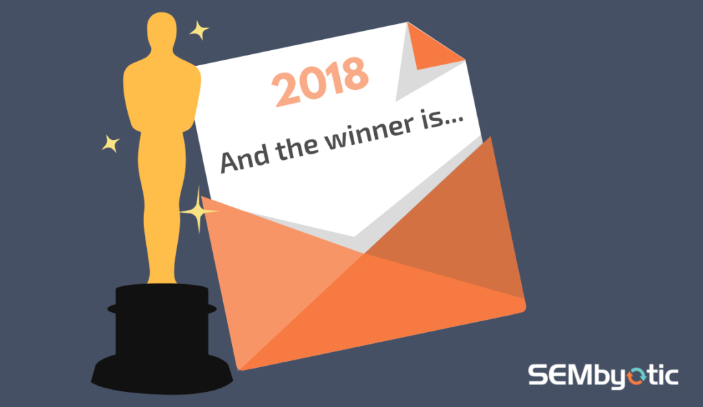 "2018 Awards Envelope Reveals ""And the winner is..."""