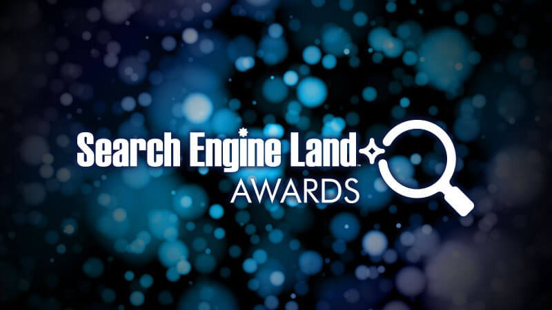 Search Engine Land Awards Logo on Sparkling Lights Background
